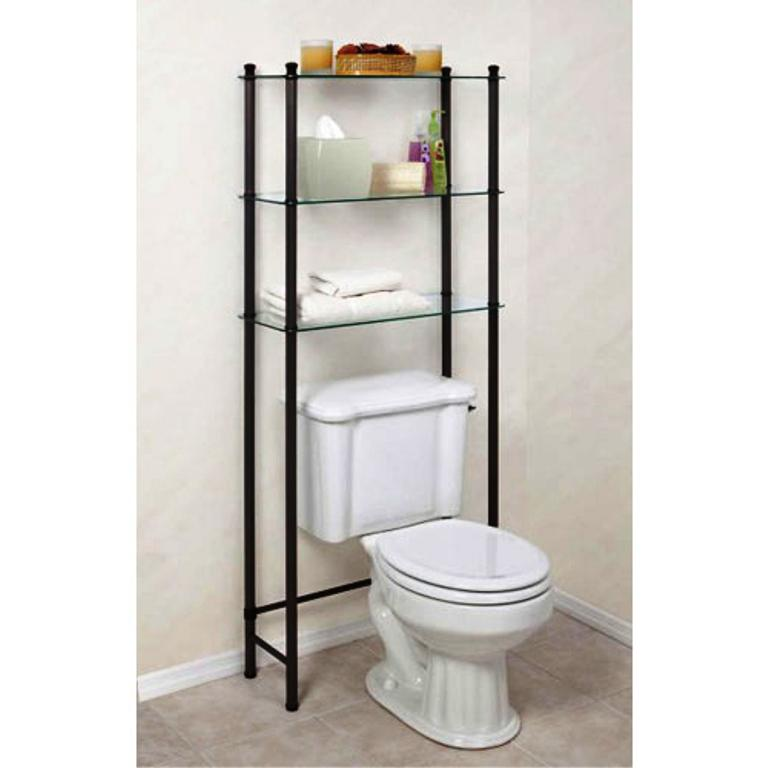 Bathroom Etagere over Toilet — Jayne Atkinson HomesJayne Atkinson Homes