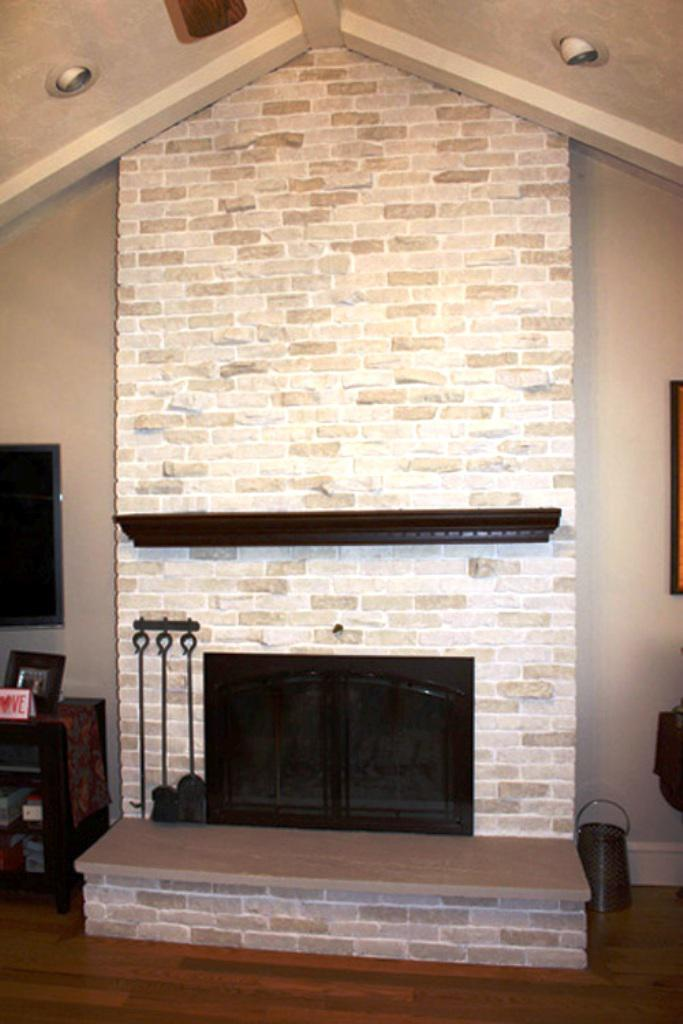 Easy Brick Fireplace Makeover