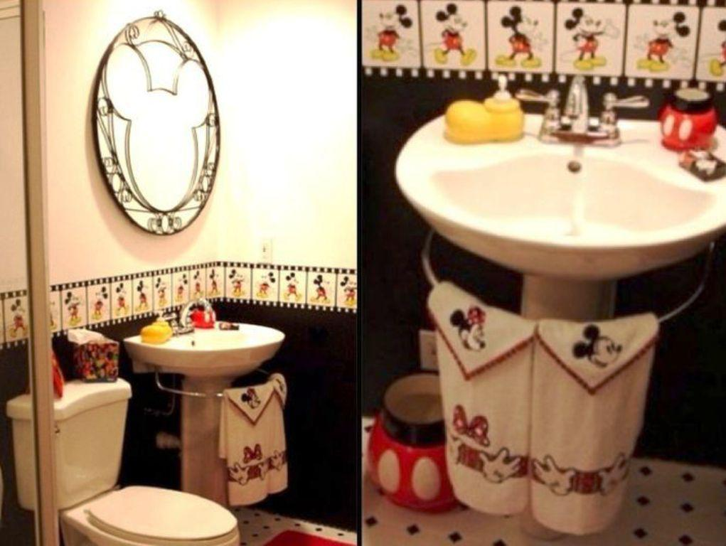 12 Photos Gallery Of Decorating With Mickey Mouse Bathroom Set