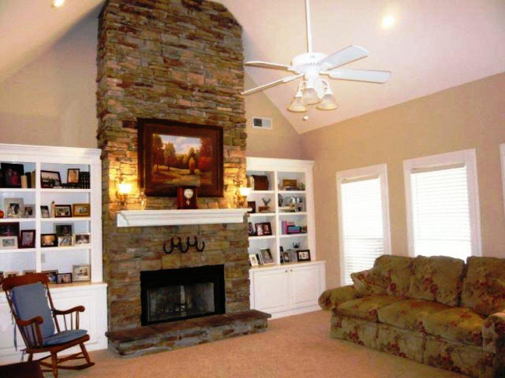 Image Of Fireplace Ideas Stacked Stone