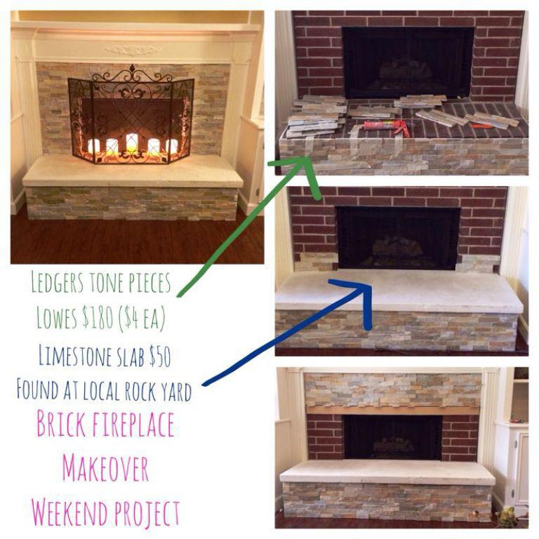 Image Of How To Redo A Brick Fireplace