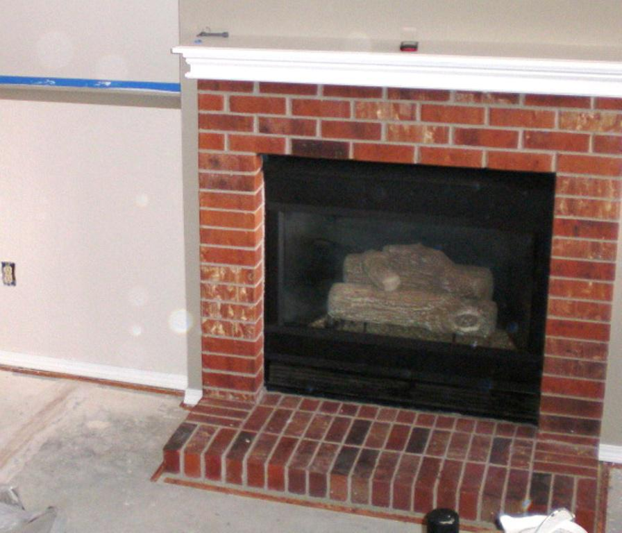Image Of Red Brick Fireplace Makeover Ideas