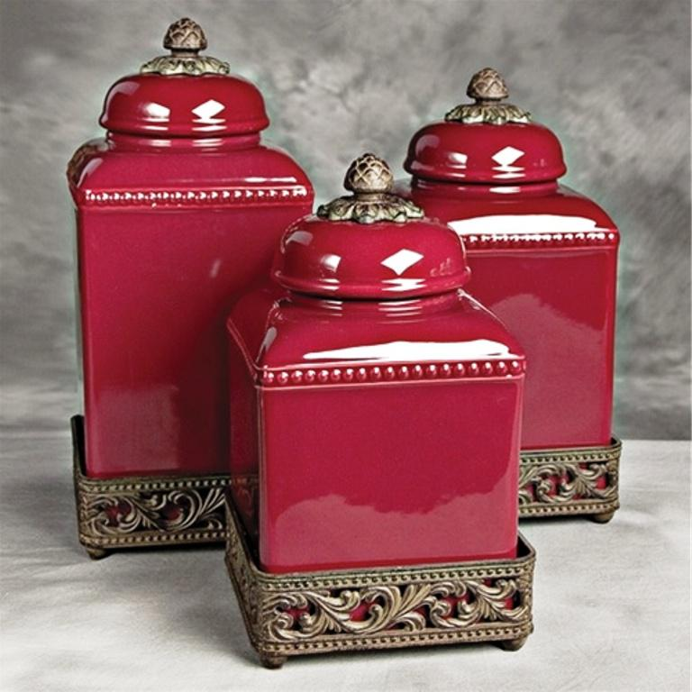 Image Of Tuscan Kitchen Canister Sets