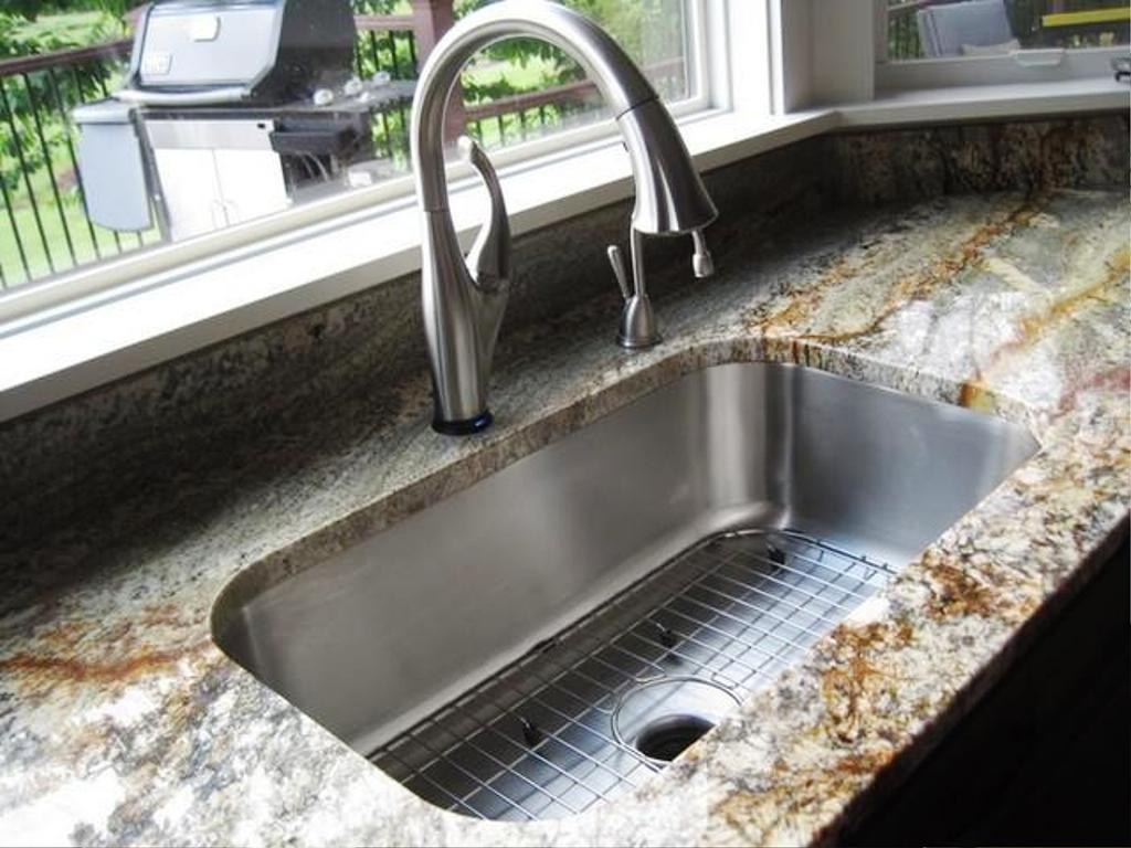 Lovely Image Of: Undermount Kitchen Sink Installation Images