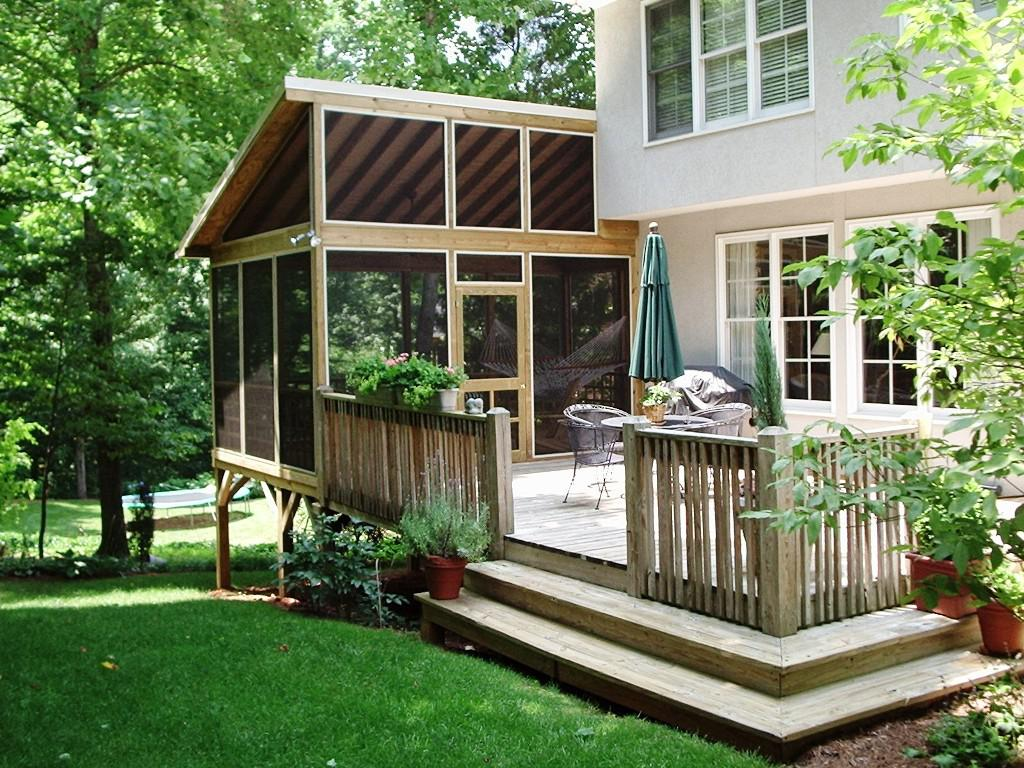 Image Of Small Screened In Porch Ideas