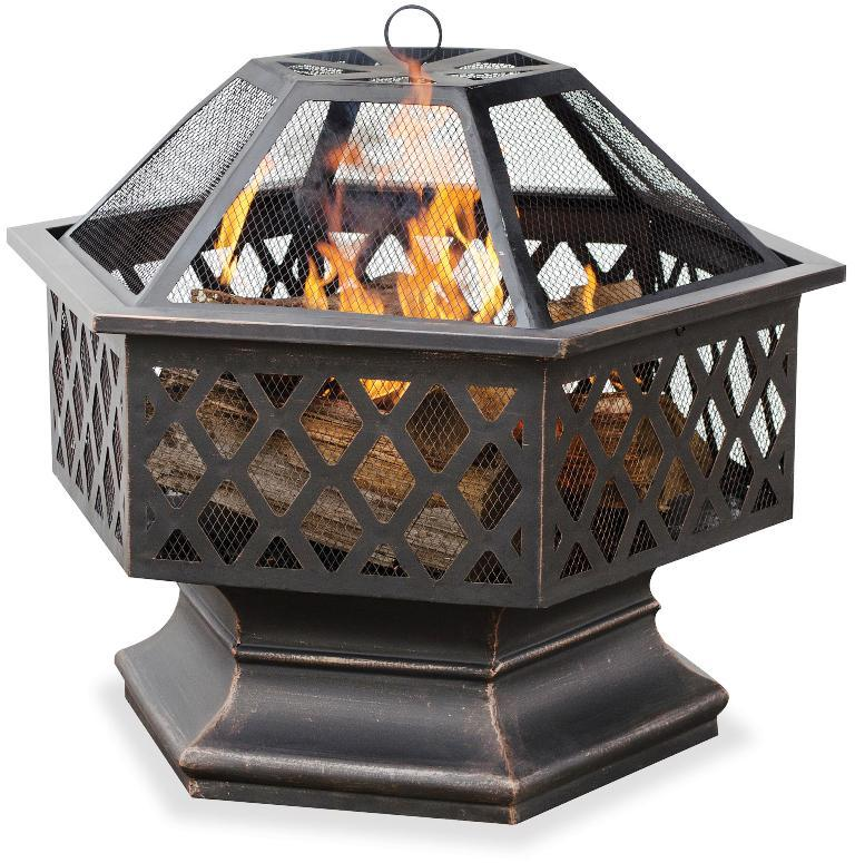 Image Of: Gas Fire Pit Insert Steel