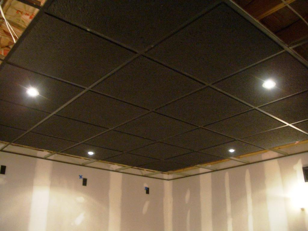 image of drop ceiling tiles painted - Painting Drop Ceiling Tiles