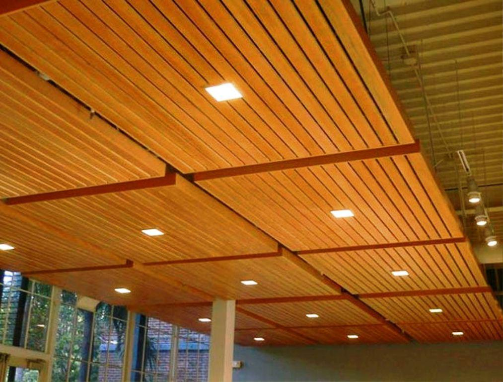 Image Of Drop Ceiling Tiles Wood Panels