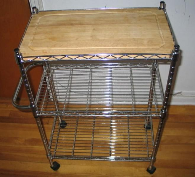 Merveilleux Image Of: Kitchen Cart With Wire Baskets