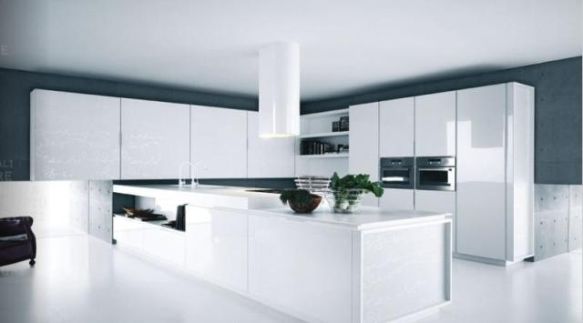 Image Of Lacquer Cabinets White Modern Kitchen Design Ideas