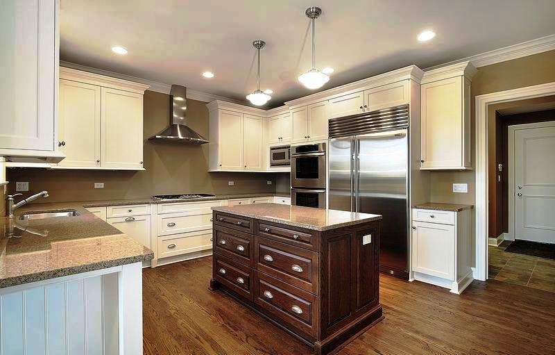 Image Of: Medium Wood And White Two Tone Kitchens Ideas