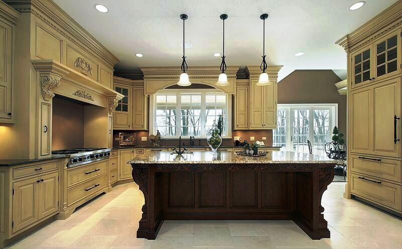 Image Of Traditional Style Two Tone Kitchens Ideas