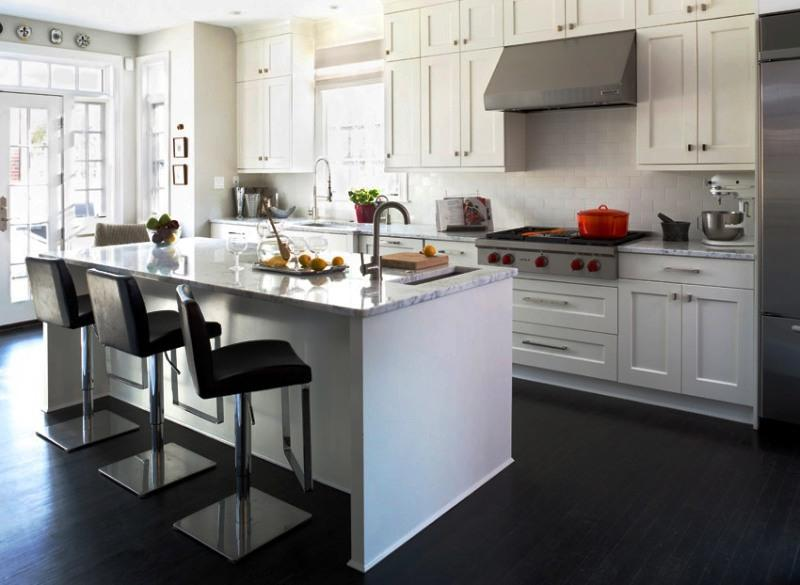 Image Of: White Transitional Kitchens Design Ideas For Small Kitchens